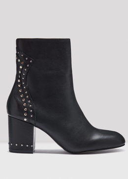 ROWEN BLACK LEATHER BOOTS