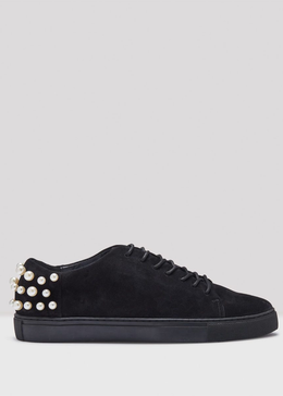 HAIG BLACK SUEDE SNEAKERS