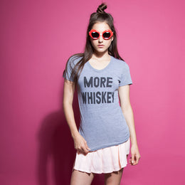 More Whiskey Athletic Grey T-Shirt