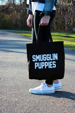 Smugglin Puppies Tote Bag View 2