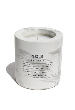 PG+CO NO.3 SATIVA CONCRETE CANDLE