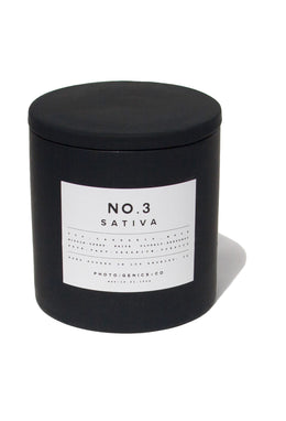 "PG+CO NO.3 SATIVA ""RUBBER"" CANDLE"