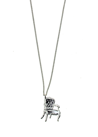 Mirror Silver Chair Necklace