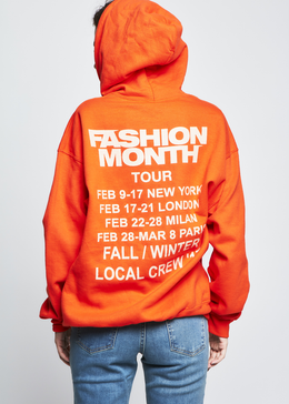 Fashion Month Tour Hoodie in Orange