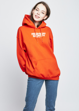 Fashion Month Tour Hoodie in Orange View 2