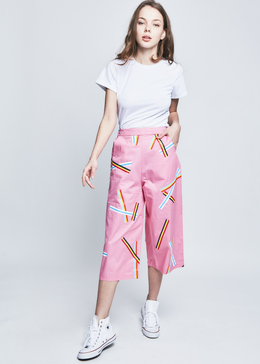 Rainbow Stripe Culottes Trousers