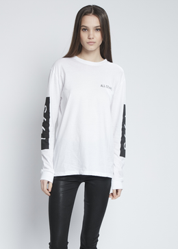 1993 Crew Long Sleeve In White View 2