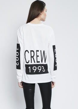 1993 Crew Long Sleeve In White