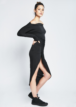 Letitia Dress in Black View 2