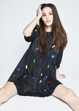 Holly Confetti Print Smock Dress View 2