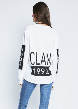 1992 Clan Crew Neck in White View 2