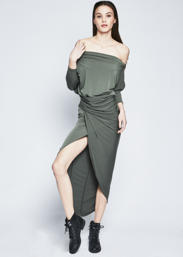 Letitia Dress in Khaki