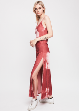 Sister Moon Velvet Slip Dress (Dusty Pink) View 2
