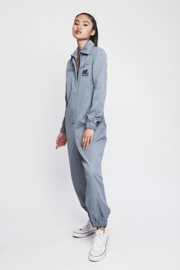 ME x Reebok Chambray Jumpsuit View 2