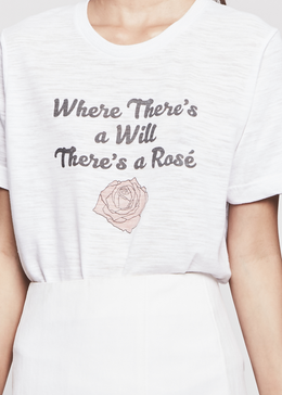 Rose Oversized Tee View 2