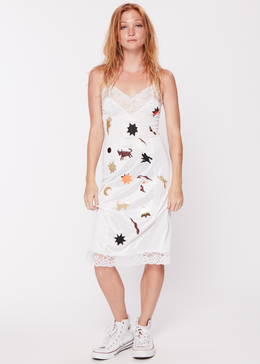 White Fantasy Slip Dress View 2