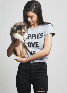 Puppies Love Me Tee View 2