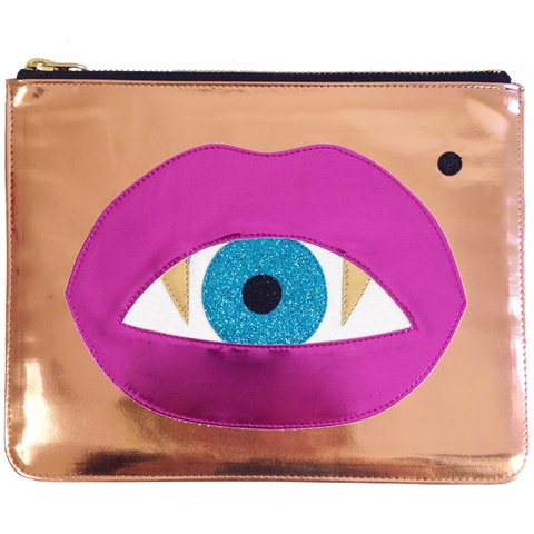 Lips and Eye Clutch