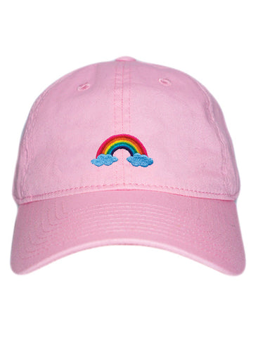 Rainbow Cap in Baby Pink