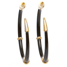 Ruhiyyih Earrings in Black/Gold View 2