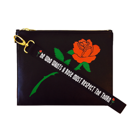 Respect Rose Clutch in Black