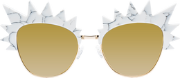 Romano Sunglasses in White Marble