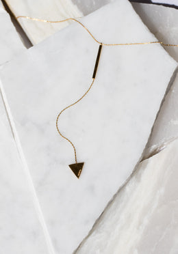 Sagitta Drop Necklace