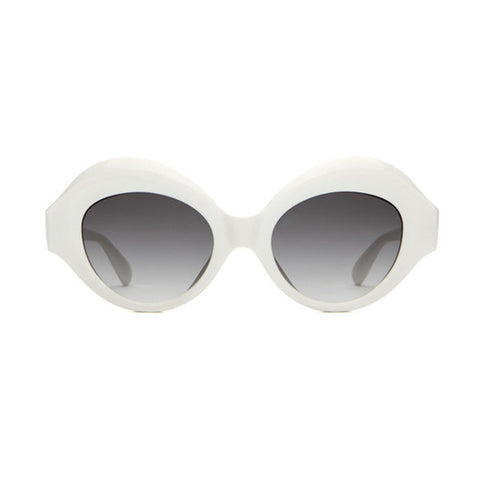 The Saloma Tropic Sunnies - Gloss White