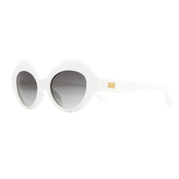 The Saloma Tropic Sunnies - Gloss White View 2