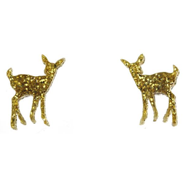 Glitter Gold Deer Posts