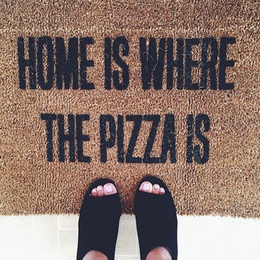 Home is Where The Pizza Is Doormat View 2