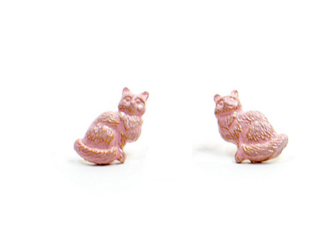 Pink Sorbet Summer Kitty Studs