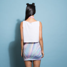Holographic Skirt View 2
