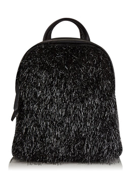 Charlie Tassel Mini Backpack in Black