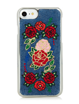 Denim Floral iPhone 6/6S & 7 Case