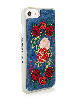 Denim Floral iPhone 6/6S & 7 Case View 2