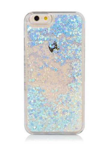 iPhone 6/6s Plus Blue Glitter Iridescent Glitter Case