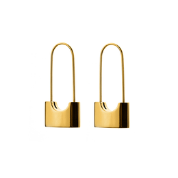 Locked and Loaded Earrings in Gold