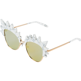 Romano Sunglasses in White Marble View 2