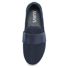 Barton Slip On in Navy On White View 2