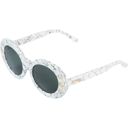 Dakota Sunglasses in White Marble View 2
