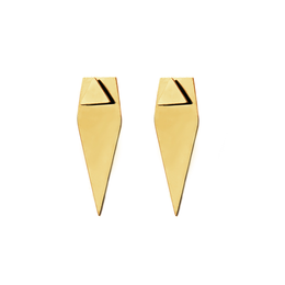 Forget Triangle Earrings - gold / Gold