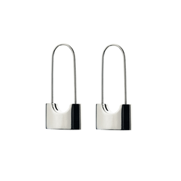 Locked and Loaded Earrings in Silver