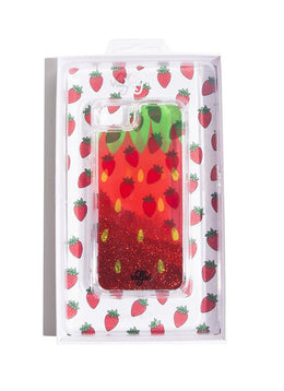 Strawberry Glitter iPhone Case View 2
