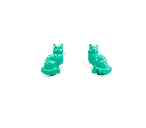 Small Kitty Studs Turquoise