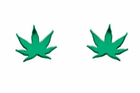 Weed Stud Earrings