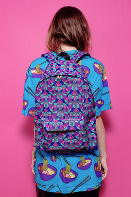 Mr. Roboto Canvas Backpack View 2