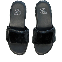 Nile Sandals (Black Fur)