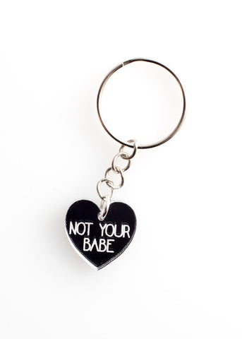 Not You Babe Key Ring in Silver
