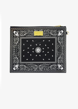 Cosmic Bandana Clutch in Black